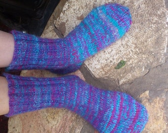 Homespun, Handknit Merino/Silk Socks for Women
