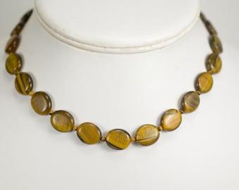 Honey Love Tiger Eye necklace