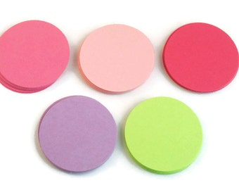 Paper Die Cut Circles  1.5 inch Circles  in Butterfly Wings  Set of 50