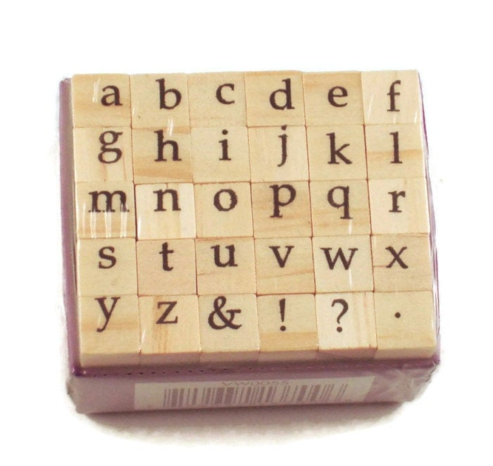 Mini Alphabet Rubber Stamp Set Ars 9