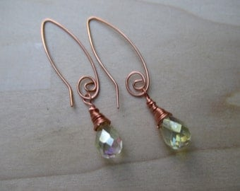 Swarovski Crystal Copper Earrings