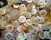 Mother of pearl vintage MOP buttons ANTIQUE NOS 4 oz. mixed lot little