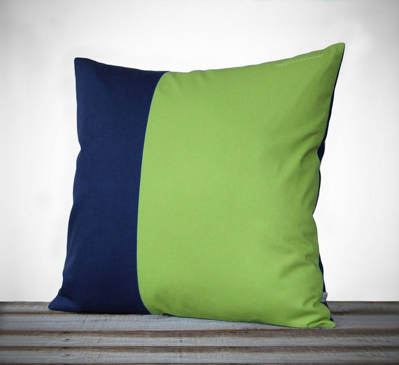 lime green with navy couch