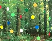 Forestal Constellation -- original Joe Ryckebosch tape art collage piece