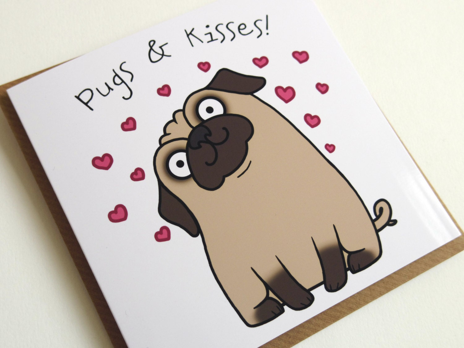 pug card  etsy, Birthday card