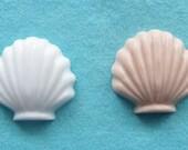 25 small sea shell soap favors - white or tan