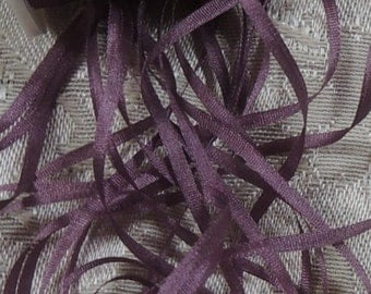 2mm silk ribbon in Plum  5 yards #562