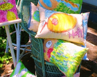 Custom Painted Pillow ANY THEME Made To Order YelliKelli