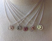 5 pack Steampunk Gear Necklaces