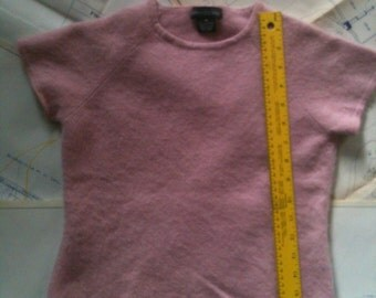 Pink 100 Percent Cashmere Sweater for Upcycling