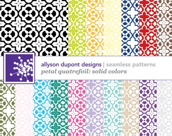 Digital Pattern Pack - Petal Quatrefoil (Illustrator CS5/CS5.5 & Photoshop)