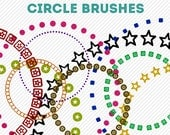 photoshop brushes - circle brushes - for photography or scrapbooking - commercial use allowed