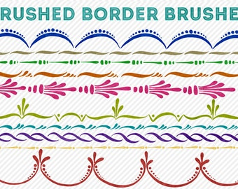 photoshop brushes - brushed border brushes - for photography or scrapbooking - commercial use allowed - automatic download