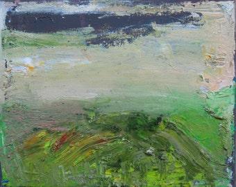 Wild Spring, Palette Knife Landscape, Original oil painting on canvas