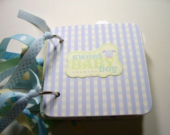 Baby Boy Mini Scrapbook Album, Baby Boy Scrapbook, Baby Boy photo Album, Baby Boy Brag Book, Baby Boy Mini Album, chipboard Album