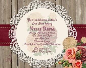 Rustic Chic Invitation
