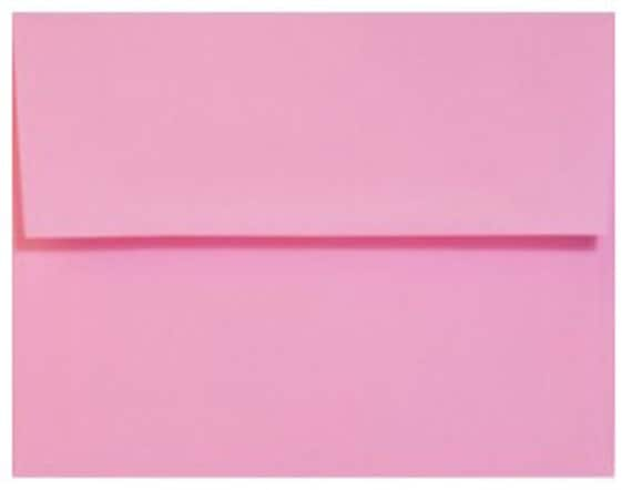 Bright Pink Envelopes - Set of 25 Bubblegum A7 Envelopes - Perfect for 5x7 Photos and Cards