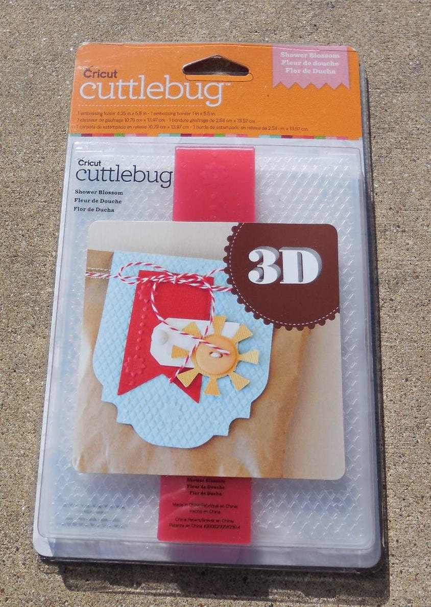 provo craft cuttlebug embossing folder abd border 3d shower