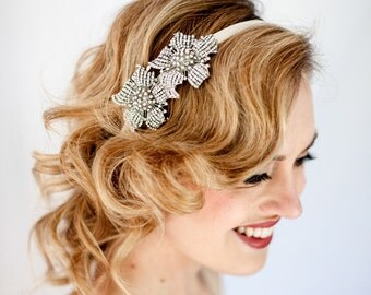 LILIES - Bridal Crystal Headband or Clip