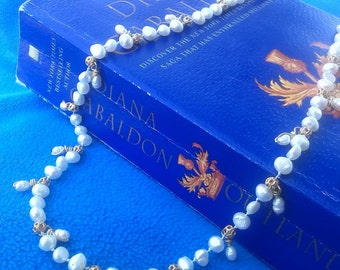 RESERVED - Claire's Pearl Necklace - Outlander Inspired Pearl Necklace - Diana Gabaldon Inspired - Outlander Inspired Wedding Necklace