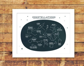 constellations children's art print 8x10
