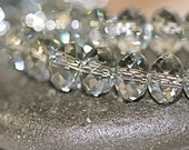 Swarovski Crystal Rondells Bead 6mm Black Diamond