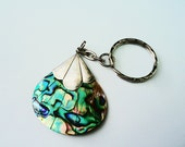PURSE CHARM ABALONE and Silver per, Keys