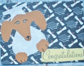 Graduation Dachshund Congratulations Collage White Card With Envelope