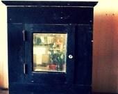 Antique Victorian Medicine Cabinet Beveled Mirror Door