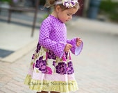 Fall 2014 Dahlia Court Knit Top Twirl Dress by Charming Necessities Toddler Girl Boutique Clothes