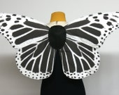 Gothic Skeleton Butterfly Wings for Costume Black and White
