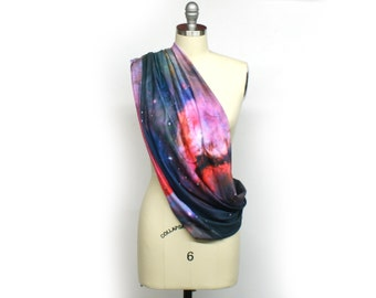 Custom Galaxy Scarf Jersey knit  -  Orion Infinity Scarf - Outer Space!