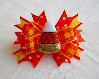 Dog Bow-  Candy Corn Boutique Dog Bow