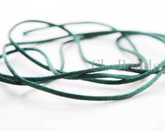 20 Meters of Round Rattail Cord - Hunter 2mm