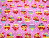 Cupcake print Japanese fabric Half meter  (HAKO11A)