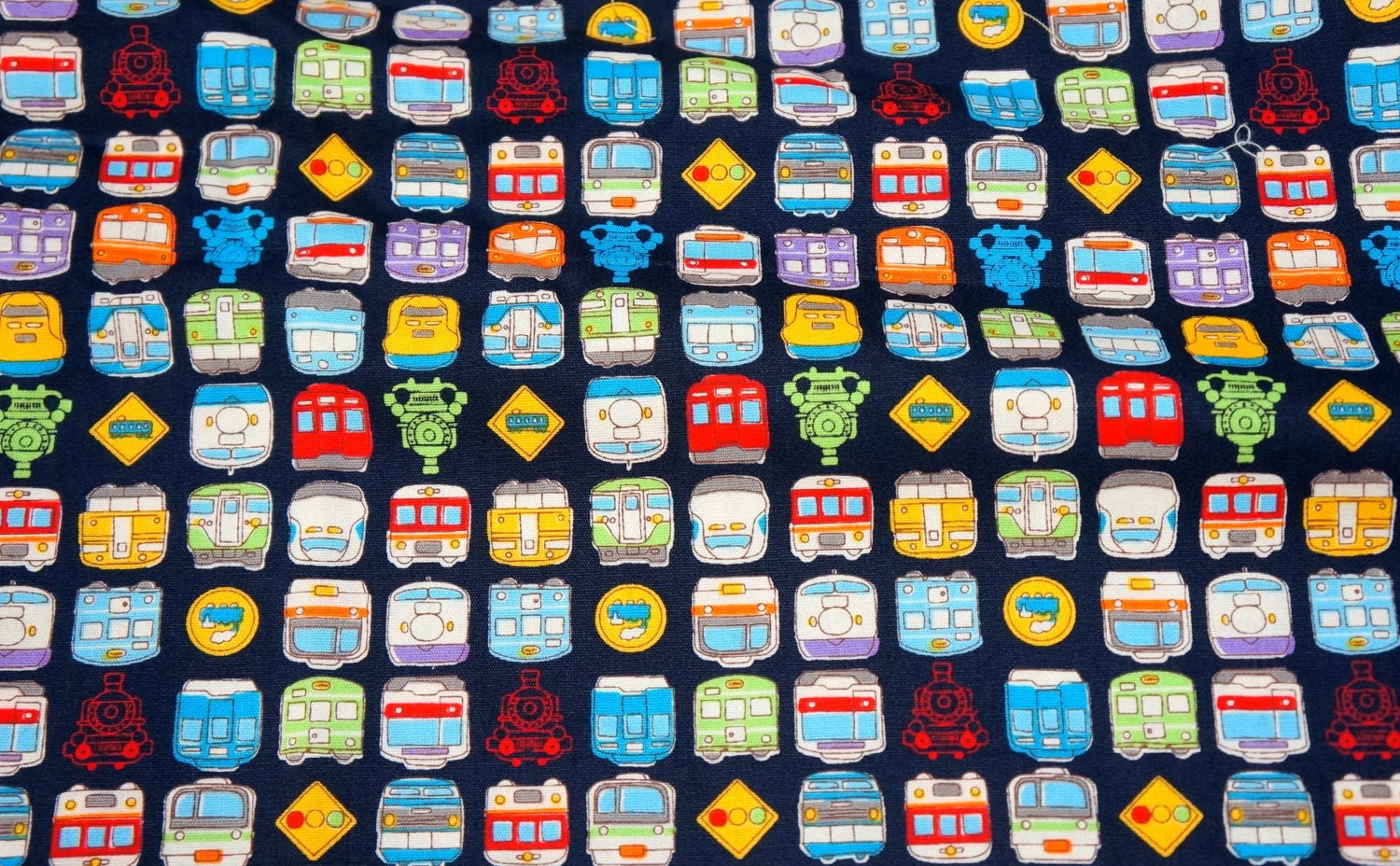 Boy theme fabric transportation trains print japanese fabric for Train themed fabric