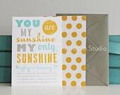 You Are My Sunshine - Printable Birthday Party Invitation