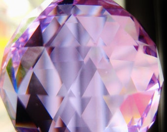 Lavender Ice 40mm Large Crystal Ball Swarovski Crystals, Suncatcher for home window or car review mirror