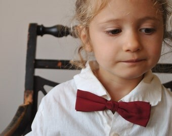 1950s Burgundy Bow Tie for Kids