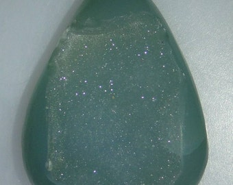 Large green pear Agate Drusy, lots of crystals, 68.83 carats                                    096-13-094