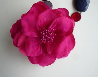 SATIN  GARDENIA Flower , Fuchisa  / FL - 02