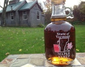 THREE 8.45 oz Pure VERMONT Maple Syrup in Beautiful Crock/Jug