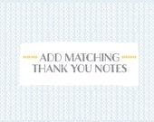 Add matching THANK YOU NOTES