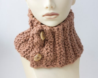 PDF Knitting Pattern  Neck Warmer Scarf,  Chunky Scarf Patterm, Instant Download