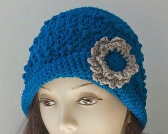 Easy Hat Crochet Pattern, Crochet Cloche Pattern, Flower Pin Pattern, Crochet Hat Pattern, Hat PDF Pattern, Flapper Cloche Pattern,