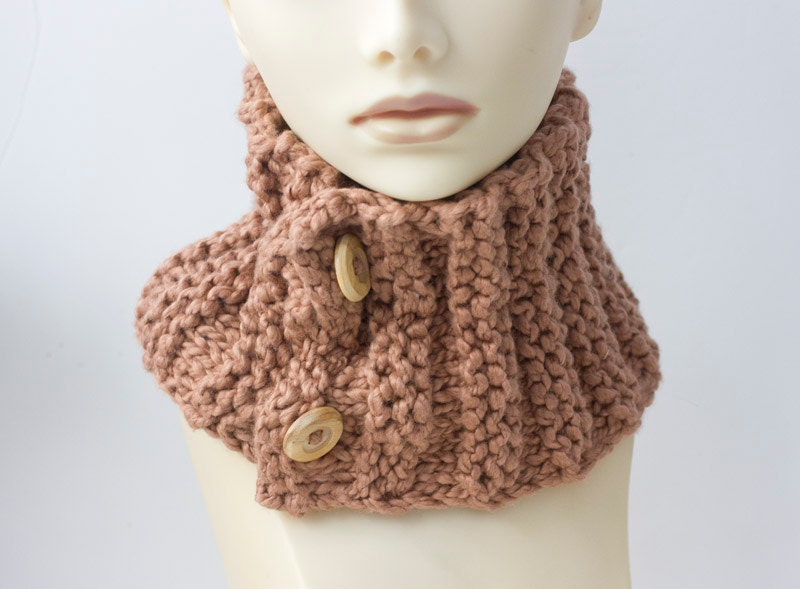 Knitting Easy Pattern Scarf Neck Warmer : PDF Knitting Pattern Neck Warmer Scarf Chunky Scarf