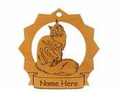 Maine Coon  1 Cat Wood Ornament 087223 Personalized With Your Cat's Name