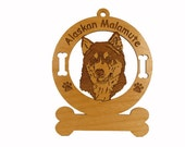 1181 Alaskan Malamute Head Personalized Ornament