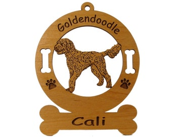 3240 Goldendoodle Standing  Personalized With Your Dog's Name - Free Shipping