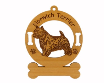 3618 Norwich Terrier Standing Personalized Dog Ornament